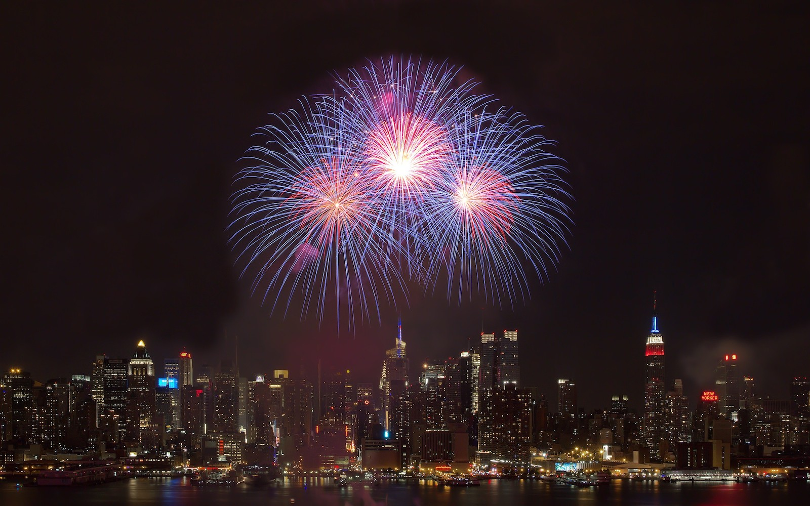 cityscapes-fireworks-new-york-city
