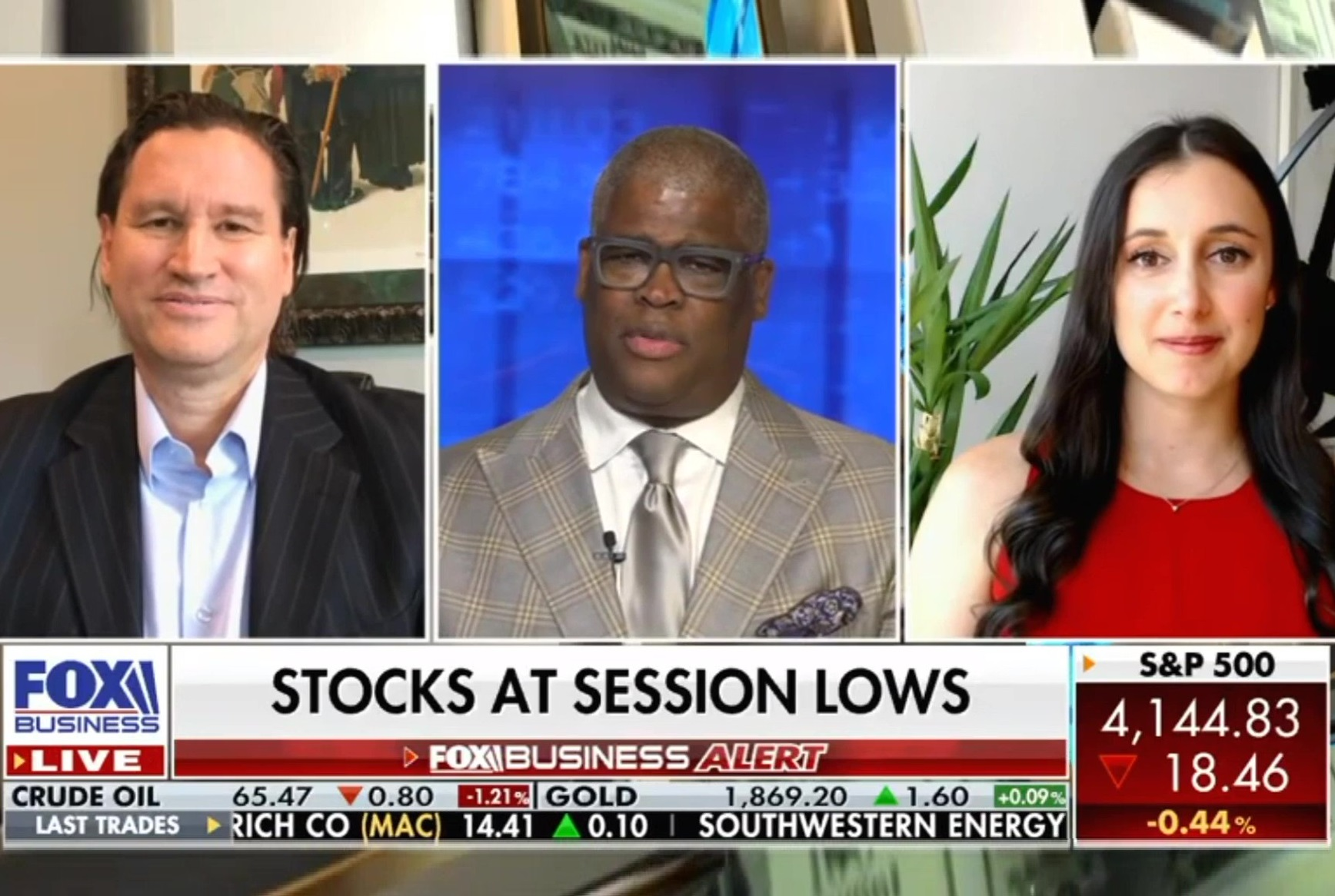 Stocks At Session Lows