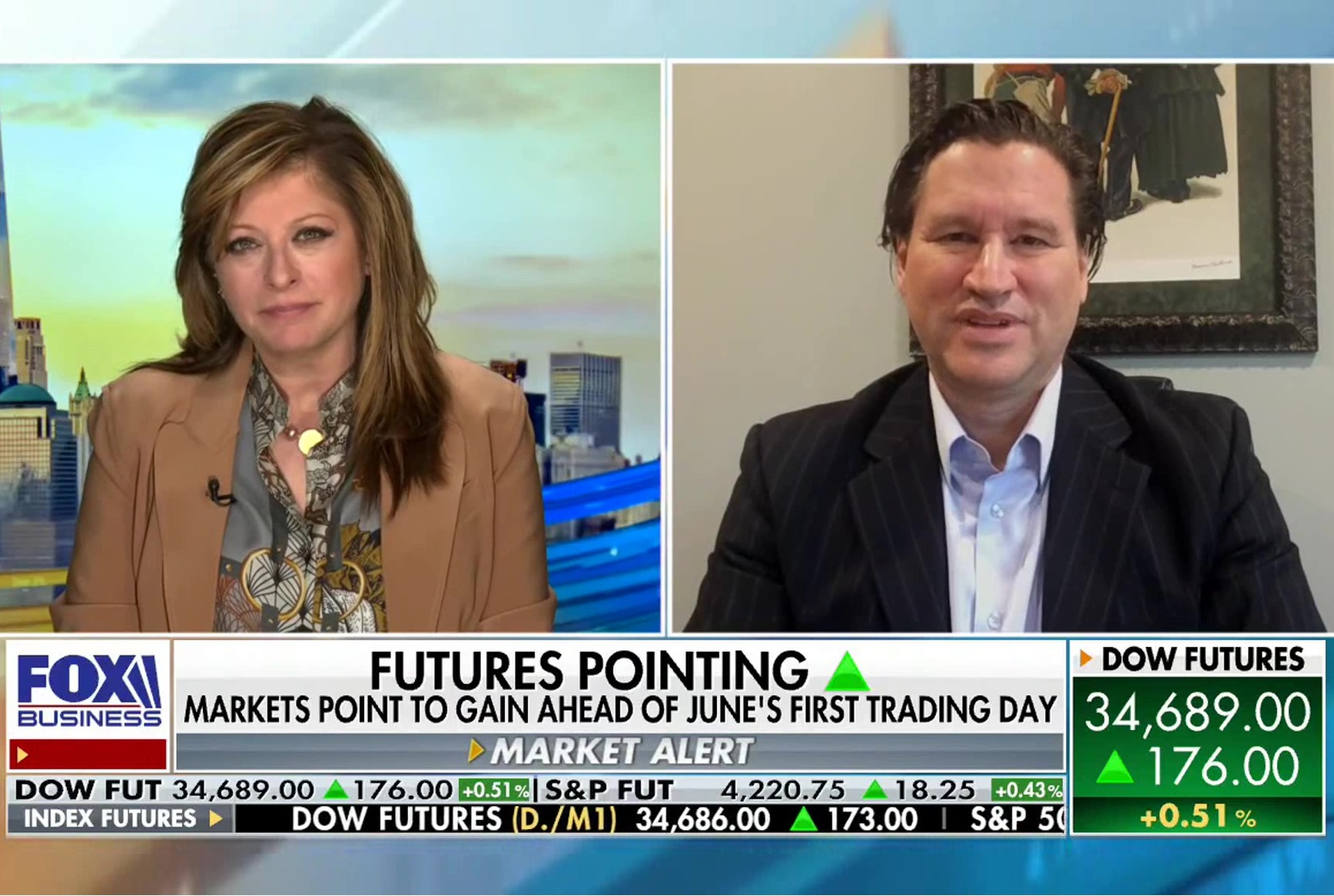 Markets Point To Gain Ahead Of June's First Trading Day